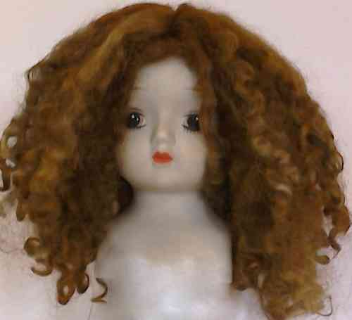 .Doll wig in Wensleydale Copper Brown