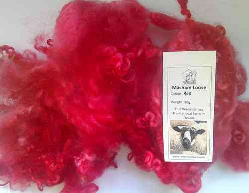 Masham Loose Wool 50g Red
