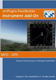 Panel Builder MFD GPS Instrument Add- on- Download 2.99 -   Requires: Panel Builder or EFIS Panel B