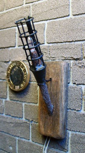 Medieval Wall Torch (working)