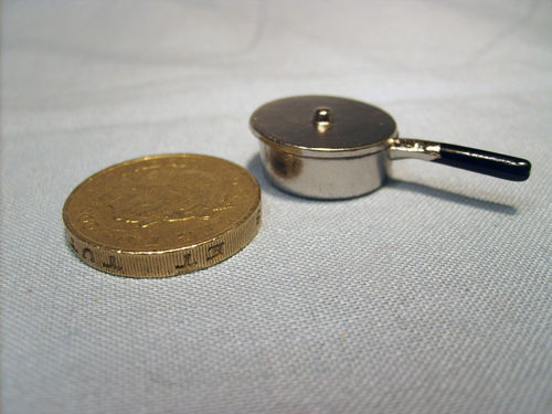 Chrome Pan with lid - shallow