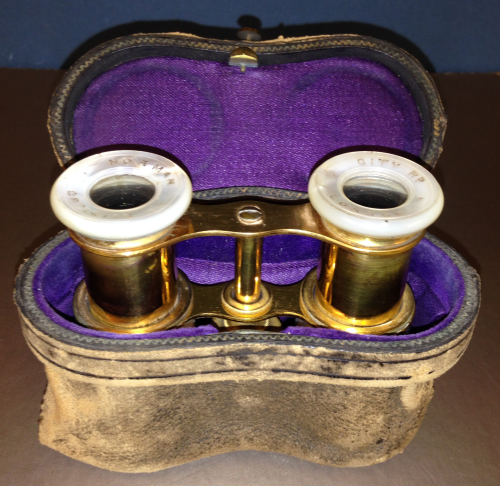 Antique Victorian Mother of Pearl Opera Theatre Glasses/ Binoculars