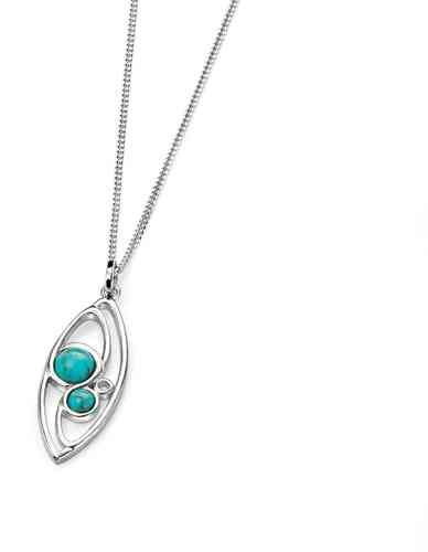 Marquis Pendant with Turquoise detail