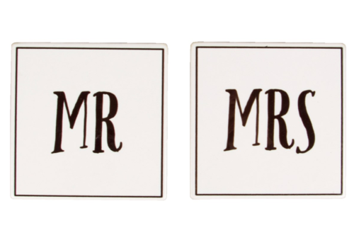 Mr & Mrs Ceramic Coasters