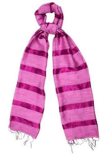 Anemone Silk and Linen Stripe Scarf