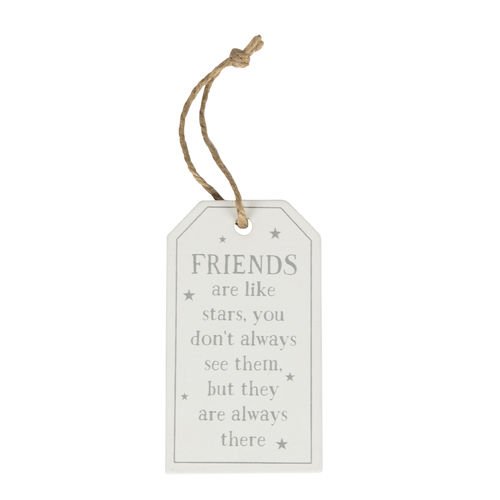 'Friends are like stars' - Tag decoration