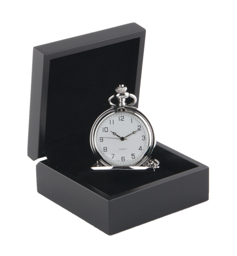 Full Hunter Silver Colour Pocket Watch