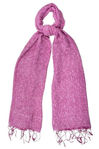 Raspberry Pink Speckled Scarf