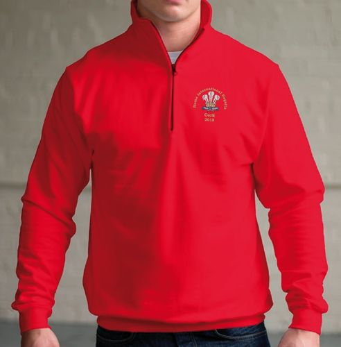 Welsh Team 1/4 Zip Sweatshirt