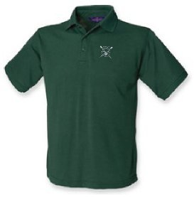 CoBRC Men's Green Polo Shirt