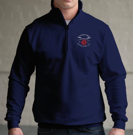 Hereford RC Navy 1/4 Zip Sweatshirt