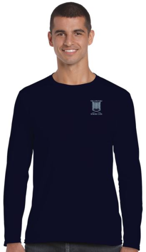 WRC Men's LS Navy T-Shirt