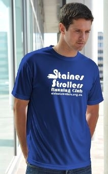 Staines Strollers Men's Royal Blue Tech T-Shirt