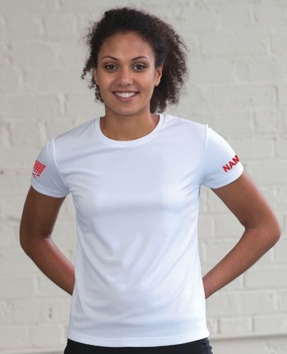 WRC Women's White Tech T-Shirt