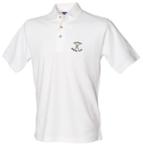 Llandaff RC Men's White Polo Shirt