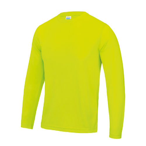 Men's Electric Yellow Long Sleeved Cool T