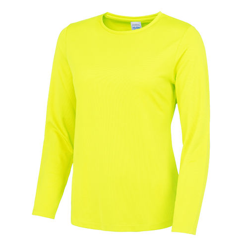 Women's Electric Yellow Long Sleeved Cool T