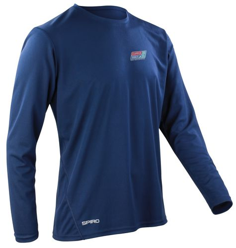 Visit Seattle Clipper 17-18 Men's Navy LS Shirt