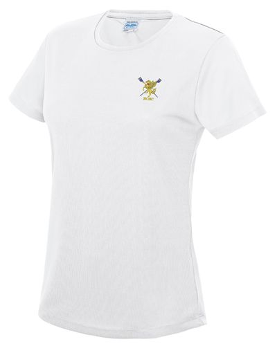 RCBC Women's White Tech T