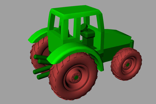 3D Printed K120 Tractor