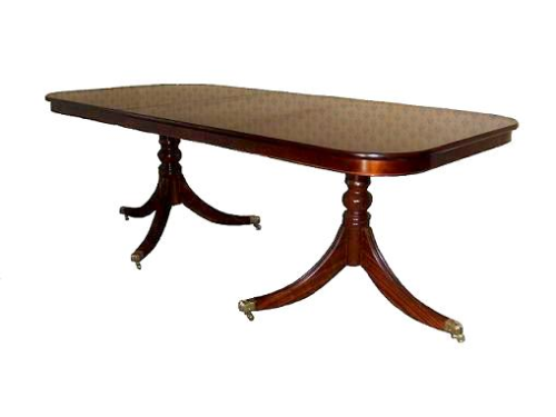 Single Leaf Solid Mahogany Regency Table with Rim