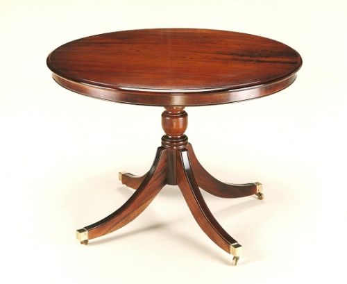 Regency Round Breakfast Table with Rim - Solid Mahogany