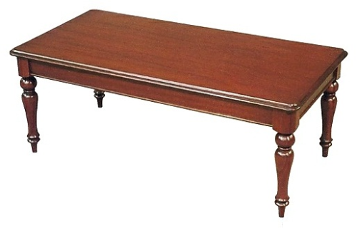 Victorian Coffee Table with Plain Legs - Solid Mahogany