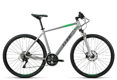 Cube Cross Pro silver grey green 2016 54 cm