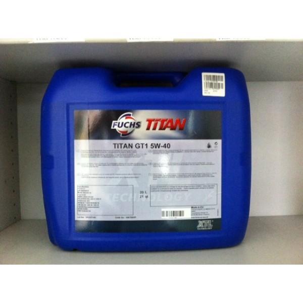 FUCHS TITAN GT1 SAE 5W-40 - 20 Liter