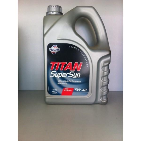 FUCHS TITAN SuperSyn SAE 5W-40 - 4 Liter