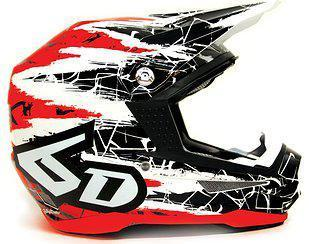 6D Helmet ATR-1 Chaos Graphic Red - XS