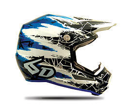 6D Helmet Chaos Blue - YOUTH