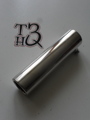chromed exhaust tip