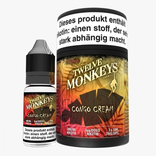 Twelve Monkeys Congo Cream 3 x 10 ml