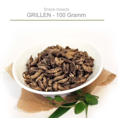 SNACK-INSECTS GRILLEN - 100 Gramm Pack ►