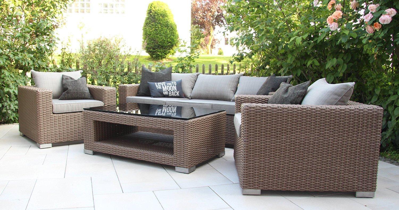 outdoor lounge m bel set chilli by garderobia geflecht toupe. Black Bedroom Furniture Sets. Home Design Ideas