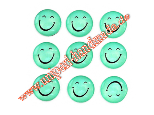 Emoji Cabochon, 14 mm, Smiling Face With Smiling Eyes