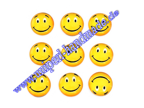 Emoji Cabochon, 14 mm, Smiling Face