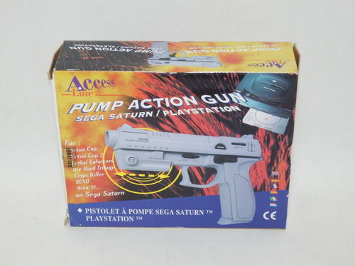 Pistolet à pompe compatible PlayStation 1 et Sega Saturn
