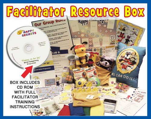 'Happy to be Us' Facilitator Full Resources Box and Training Modules - Social Skills Programme