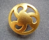 Gilded metal button