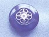 Silver effect centre detail button