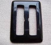 Plastic black buckle