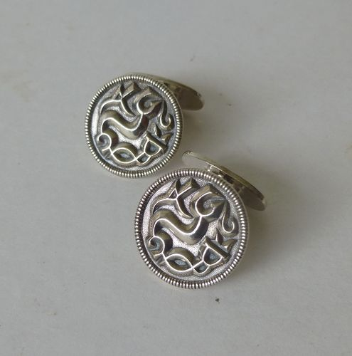 David-Andersen Saga series Sterling cufflinks