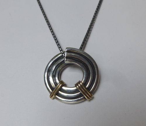 Algot Enevoldsen Sterling silver pendant with gold