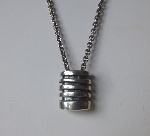 "Georg Jensen Sterling silver ""Strata"" pendant 203 with silver chain"