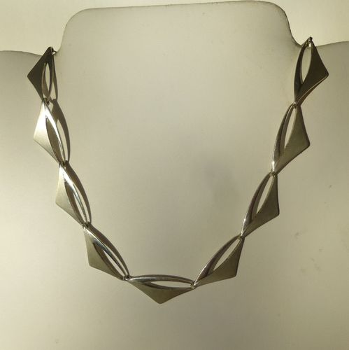 Poul Warmind Sterling silver aerodynamic necklace