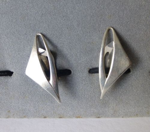 Poul Warmind Sterling silver aerodynamic ear clips