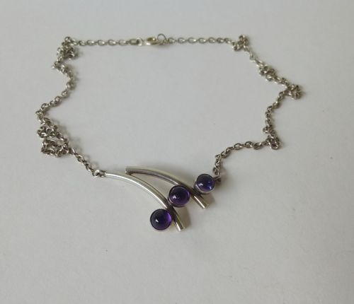 N.E.From Sterling amethyst necklet