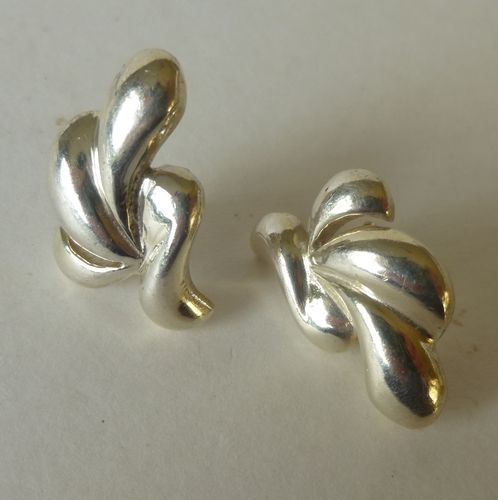 ND large Sterling silver earrings - studs
